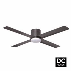 Tiny LT Brown - DC ceiling fan with light and remote control, 132 cm