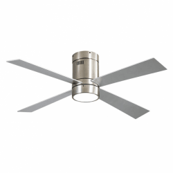 Twist Silver LT - AC ceiling fan, 122 cm, with light, remote control and summer / winter function