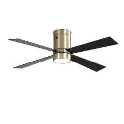 Twist Brass LT - AC ceiling fan, 122 cm, with light, remote control and summer / winter function