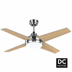 Elysa Haya- DC ceiling fan with two-faced blades, with lighting and remote control, 112 cm
