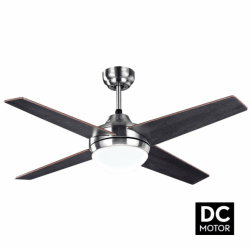 Elysa Wenge - DC ceiling fan with two-faced blades, with lighting and remote control, 112 cm