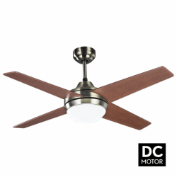 Elysa Cherry- DC ceiling fan with two-faced blades, lighting, and remote control, 112 cm