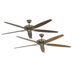 Ceiling Fan, MA Royal 180 cm, antique brass, oak / walnut blades, CASAFAN