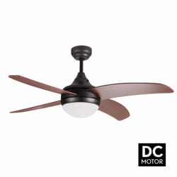 Artus Rustic - Modern DC ceiling fan with light and remote control, 116 cm