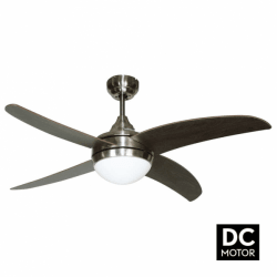 Artus Wenge - Modern DC ceiling fan with light and remote control, 116 cm