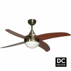 Artus Cherry- Modern DC ceiling fan with light and remote control, 116 cm
