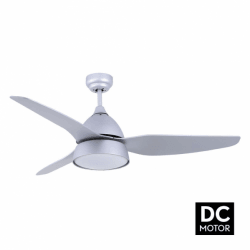 Bell Silver - DC ceiling fan in a modern design, with lighting, remote control, summer / winter operation