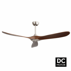 Propiler - elegant ceiling fan with DC motor and blades made of natural wood, 132 cm
