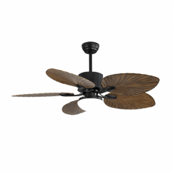 Fiji - AC ceiling fan, tropical style, with LED, remote control, summer / winter operation