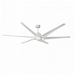 Extra large DC ceiling fan, white, with lighting, 210 cm - FARO Cies