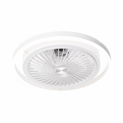 Prospero white - ceiling / wall fan with powerful, dimmable LED light