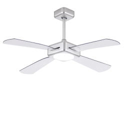 Quartet Grey from LBA Home - DC ceiling fan with dimmable LED light, 127 cm, with transparent blades, reverse rotation