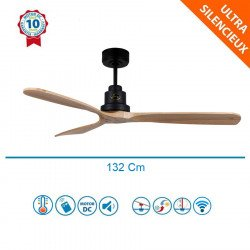 Lanzarote - designer ceiling fan, 132 cm, with WiFi, thermostat, without light