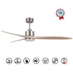 Latino III LT - last generation DC ceiling fan - dimmable light, Wi-Fi, thermostat, 166 cm
