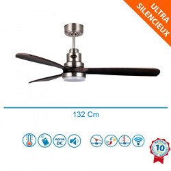 Lanzarote DW Lt -  designer ceiling fan, 132 cm, with WiFi, thermostat, with light