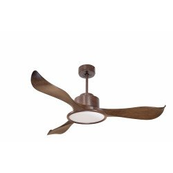 Modulo by KlassFan - DC ceiling fan, LED light, remote control, thermostat, heat recovery, 132 cm-KL_DC2_P2Wo_L2Wo