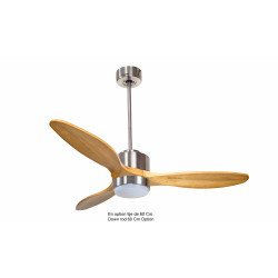 Modulo by KlassFan - DC Ceiling Fan, 133 cm, for heat recovery, with light, thermostat, remote, KL_DC3_p5SW133_L1CH