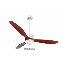Modulo by KlassFan - DC Ceiling Fan, modern look, heat recovery, wooden blades, thermostat, DC4_P5RW166_L1WI