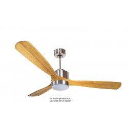 Modulo by KlassFan - DC Ceiling Fan, modern look, heat recovery, wooden blades, thermostat, DC3_P6SW166_L4CH