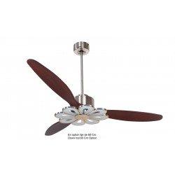 Modulo by KlassFan - DC Ceiling Fan, modern look, heat recovery, wooden blades, thermostat, KL_DC3_P5DW166_L4Ch