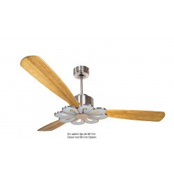 Modulo by KlassFan - DC Ceiling Fan, modern look, heat recovery, wooden blades, thermostat, DC3_P6SW166_L4CH