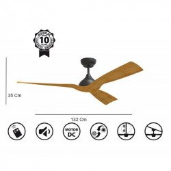 "Ceiling Fan DC Motor, 132 Cm/51.9"" , Ultra Quiet, Klassfan Waterwind, IP44, External and Internal Use"