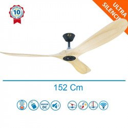 Geronimo - Designer DC ceiling fan 152 cm, blades made of wood, WiFi, thermostat