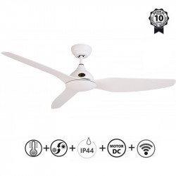 Tramontana - DC ceiling fan for outdoor use with IP44, remote control, Wi-Fi