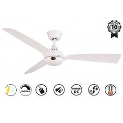 Hackney II Weiß - DC ceiling fan of the last generation, 132 cm, with dimmable LED light, remote control, Wi-Fi ready