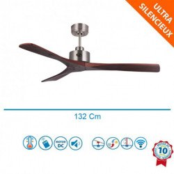 Flatwood DW - DC ceiling fan, without light, thermostat and remote control, 132 cm