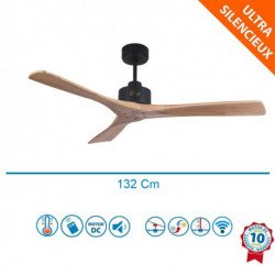 Flatwood LW - DC ceiling fan, without light, thermostat and remote control, 132 cm