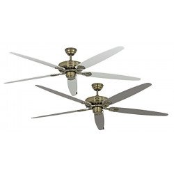 Ceiling Fan, MA Royal 180 cm, antique brass, white / gray blades, CASAFAN