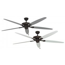 Ceiling fan, Royal BA, classic 180 Cm, antique brown, white and gray lacquered blades, CASAFAN