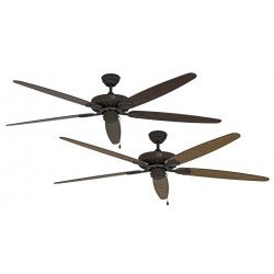 Ceiling fan, Royal BA, classic 180 Cm, antique brown, blades Old oak and walnut, CASAFAN