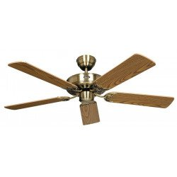 Ceiling Fan, Royal MA132 cm, Antique Brass, Oak blades.