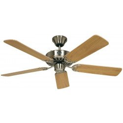 Ceiling Fan, Royal BN132 cm, brushed chrome, beech blades.