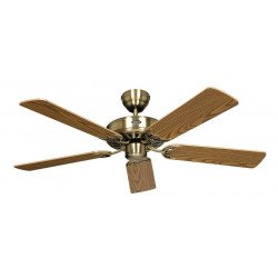 Ceiling Fan, Royal MA103 cm, Antique Brass, Oak blades.CASAFAN