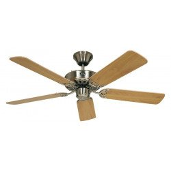 Ceiling Fan, Royal BN103 cm, brushed chrome, beech blades