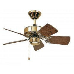 Ceiling Fan, Royal 75 MP cm, Polished Brass, Oak blades