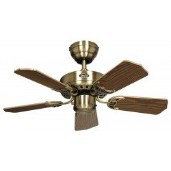 Ceiling Fan, Royal 75 MA cm, Antique Brass, Oak blades CASAFAN
