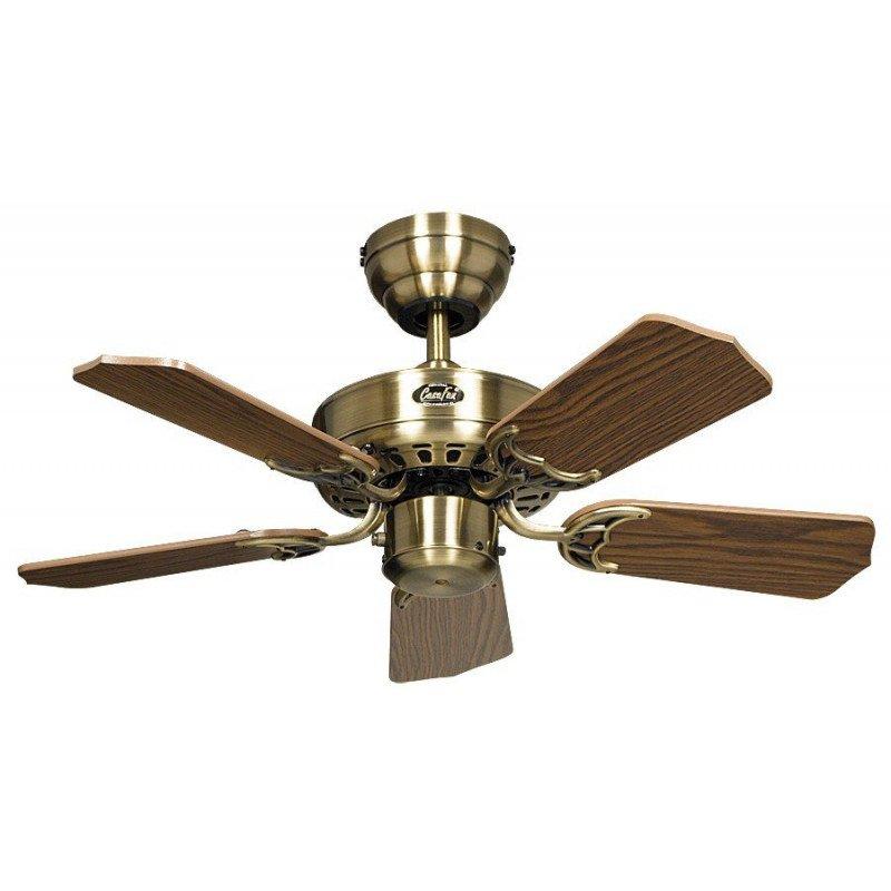Ceiling Fan, Royal 75 MA cm, Antique Brass, Oak blades CASAFAN