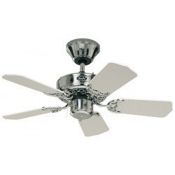 Ceiling Fan, Royal 75 CH cm, brushed chrome, white blades