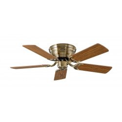Ceiling Fan, Classic Flat, 103 Cm,  antique brass. blades oak / beech