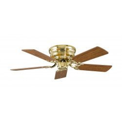 Ceiling Fan, Classic Flat, 103 Cm,  polished brass, blades oak / beech CASAFAN