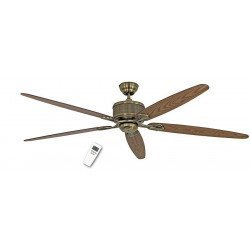 Ceiling fan DC 180 Cm, Eco Elements MA, Antique brass, aged oak blades and walnut, remote control