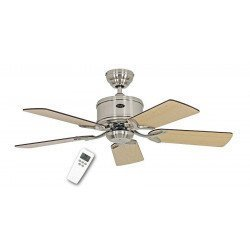 DC Ceiling Fan 103 Cm, Eco Elements BN Brushed Chrome, blades Wenge / Maple