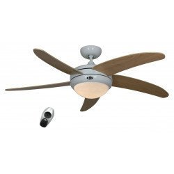 ceiling fan, quiet design 132 Cm white lacquer maple blades with lamp, CASAFAN Elica WE-AH