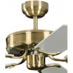 Ceiling fan DC, modern 132 Cm brushed chrome, walnut wood blades with light and remote control, CASAFAN AERODYNAMIX