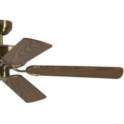 ceiling fan, classic, silent, 132 Cm. antique brass body oak blades Potkuri Pepéo.