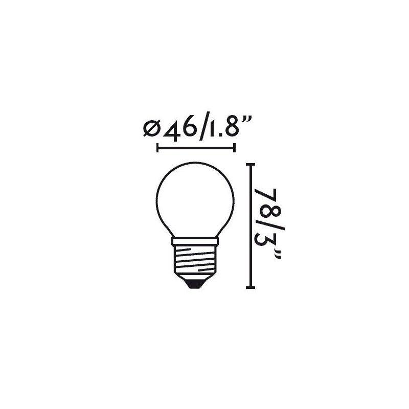 Pack de 4 ampoules ECOHALOGÈNE G45 E27 28W 2700K 350Lm